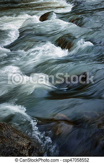 Detail of a rapid river - csp47058552