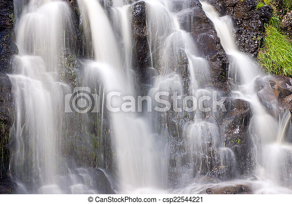 Detail of a small waterfall - csp22544221