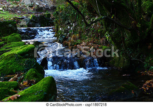 Detail of a water stream - csp11897218