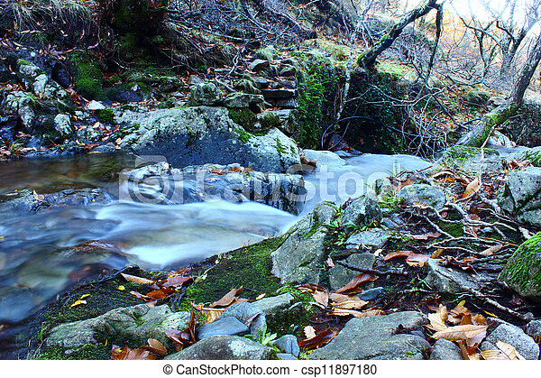 Detail of a water stream - csp11897180