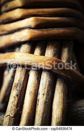 Detail of a wicker basket - csp54936474