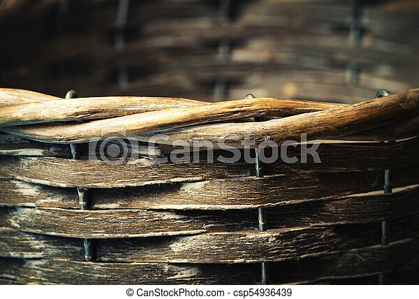 detail of a wooden basket - csp54936439