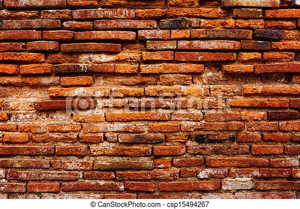 Detail of ancient brick wall - csp15494267