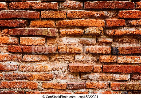 Detail of ancient brick wall - csp15222321