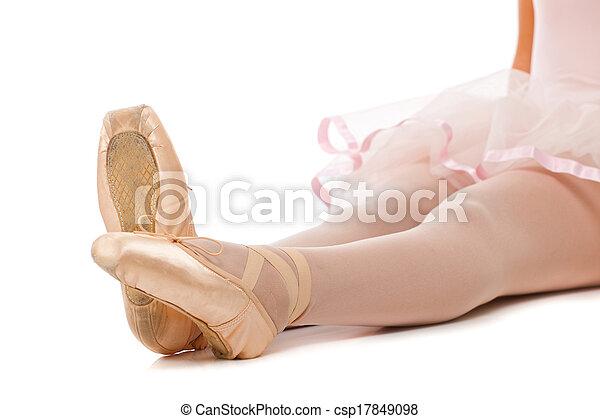 Detail of ballet dancer's feet - csp17849098