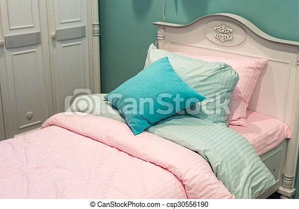 Detail of bedrooms for women - csp30556190