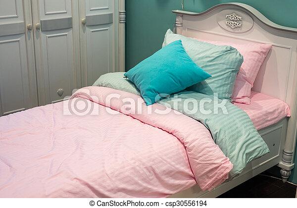 Detail of bedrooms for women - csp30556194