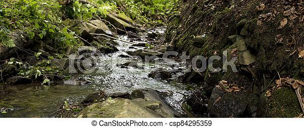 detail of cascades on a stream - csp84295359