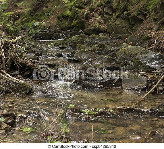 detail of cascades on a stream - csp84295340