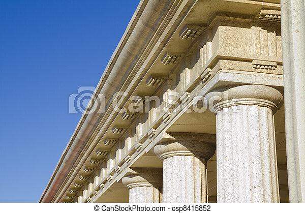 Detail of classical columns - csp8415852