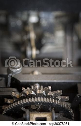 Detail of Gear wheels - csp30378951