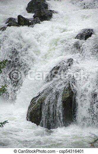 Detail of Gibbon Falls - csp54316401