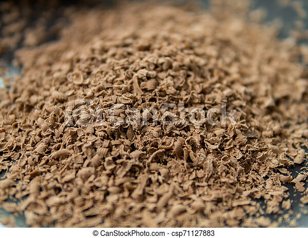 detail of grated chocolate - csp71127883