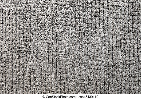 Detail Of Gray Fluffy Carpet Texture Background