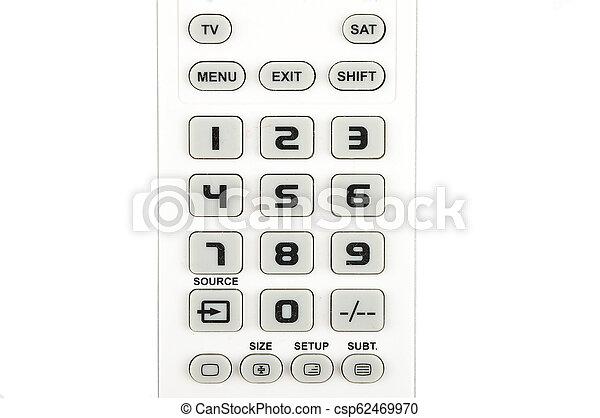 Detail of keypad on white background - csp62469970