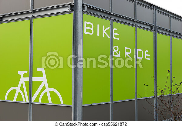 Detail of modern bicycle parking area - csp55621872