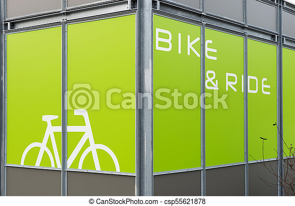 Detail of modern bicycle parking area - csp55621878