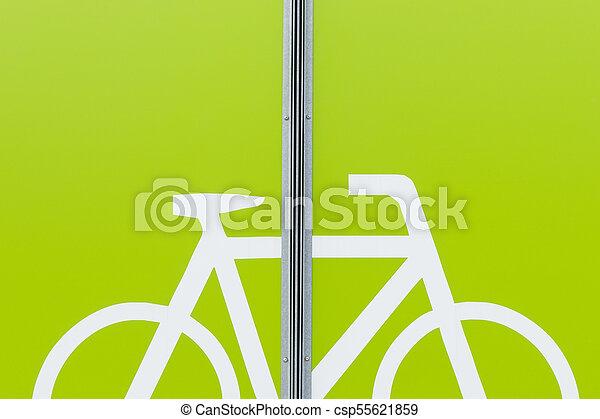 Detail of modern bicycle parking area - csp55621859
