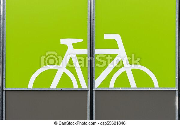 Detail of modern bicycle parking area - csp55621846