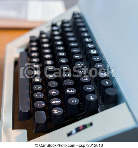 detail of old typewriter - csp73012010