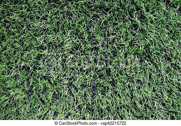 Detail of plastic grass artificial green turf texture stock