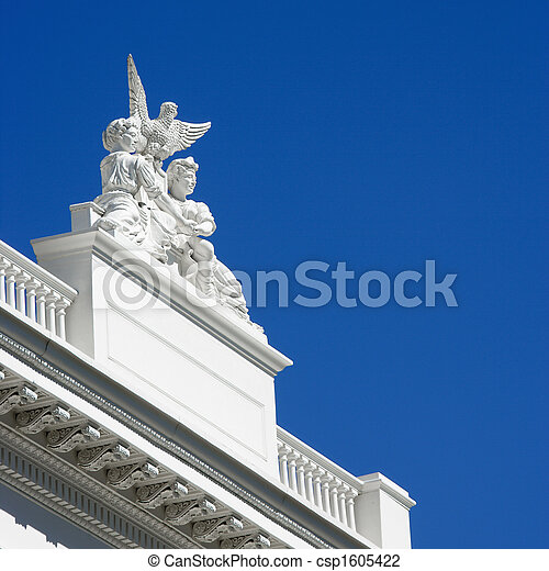 Detail of Sacramento capitol - csp1605422