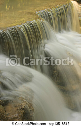 Detail of small waterfall - csp13518517