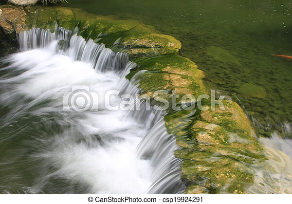 Detail of small waterfall - csp19924291