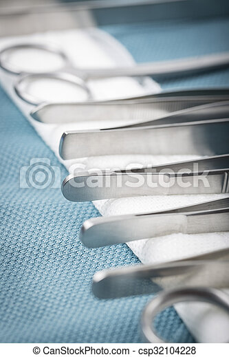 Detail of surgical instruments - csp32104228