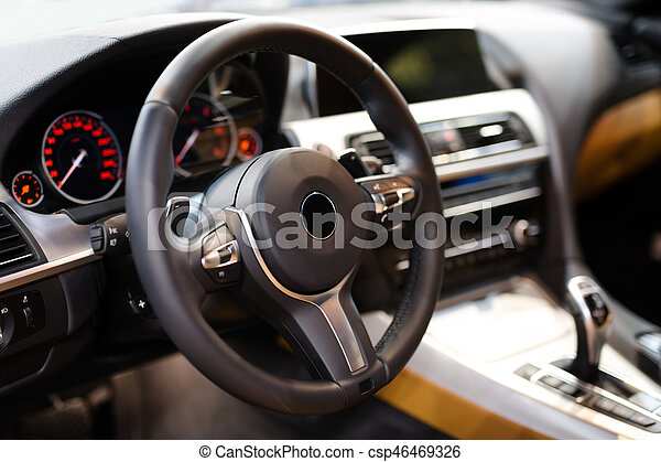 Detail of the car interior - csp46469326