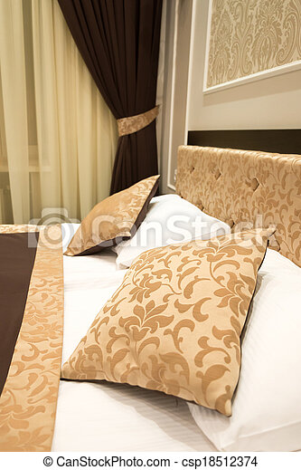 Detail of the interior of a bedroom - csp18512374