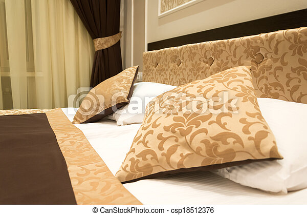 Detail of the interior of a bedroom - csp18512376