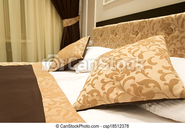 Detail of the interior of a bedroom - csp18512378
