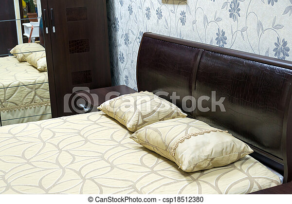 Detail of the interior of a bedroom - csp18512380