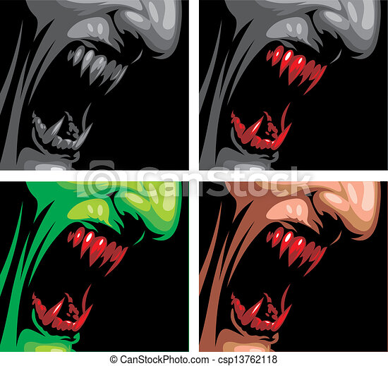 detail of vampire  - csp13762118