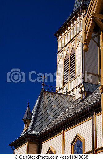 Detail of wooden cathedral - csp11343668