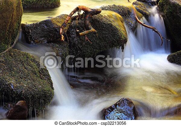 detail on a mountain stream - csp32213056
