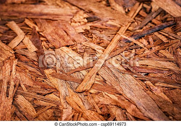 detail on wood chipboard - csp69114973