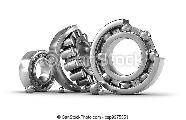 Detailed bearings production - csp9375351