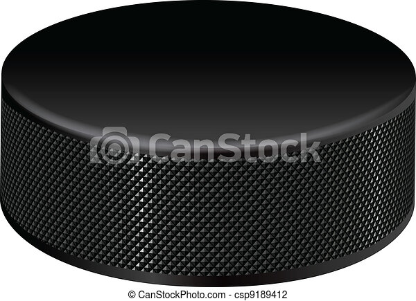 detailed hockey puck closeup illustration of a detailed hockey puck rh canstockphoto com Hockey Puck Clip Art Chalkboard hockey puck clipart black and white