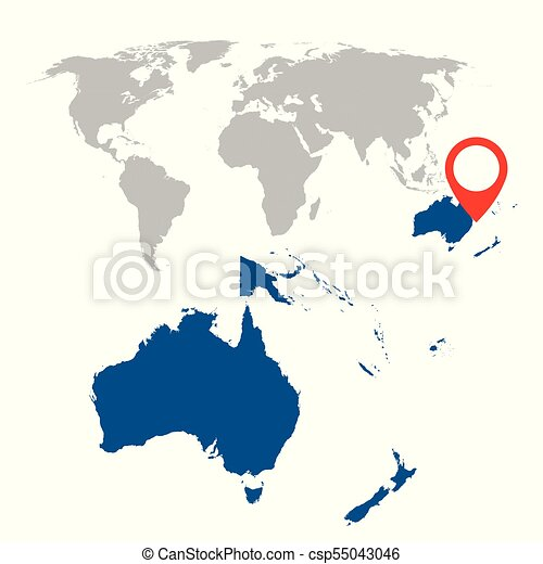 Detailed map of australia oceania and world map navigation eps detailed map of australia oceania and world map navigation set flat vector illustration gumiabroncs Gallery