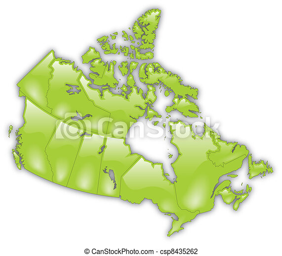 Detailed Map of Canada - csp8435262