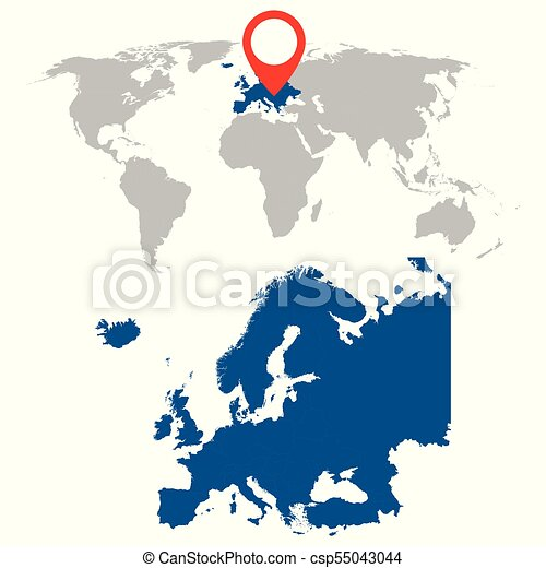 Detailed map of europe and world map navigation set flat vector detailed map of europe and world map navigation set flat vector illustration gumiabroncs Image collections
