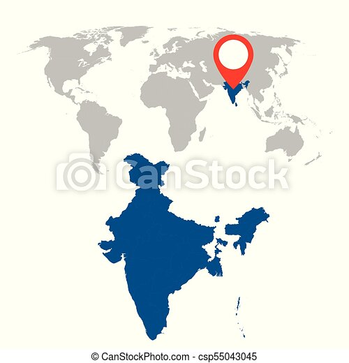 Detailed map of india and world map navigation set flat eps detailed map of india and world map navigation set flat vector illustration gumiabroncs Gallery