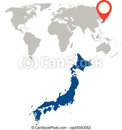 Detailed map of japan and world map navigation set. flat vector ...