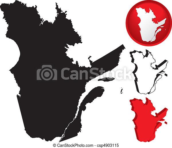 Detailed Map of Quebec, Canada - csp4903115