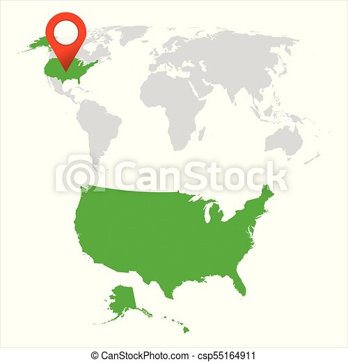 Detailed map of usa and world map navigation set flat vector detailed map of usa and world map navigation set flat vector illustration gumiabroncs Image collections