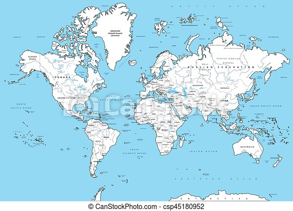 Detailed Political World Map Highly Detailed Political World Map