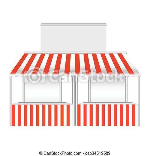 Detailed vector illustration of a stall. - csp34519589