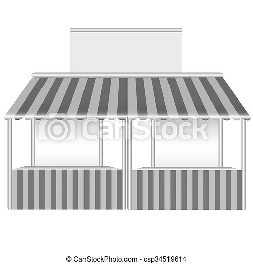 Detailed vector illustration of a stall. - csp34519614